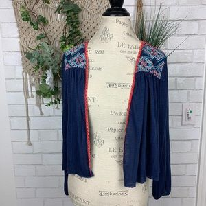 American Eagle Outfitters Embroidered Cardigan